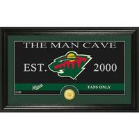 "Minnesota Wild ""Man Cave"" Panoramic Bronze Coin Photo Mint"