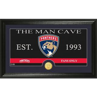 "Florida Panthers ""The Man Cave"" Bronze Coin Panoramic Photo Mint"