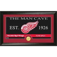 "Detroit Red Wings ""The Man Cave"" Bronze Coin Panoramic Photo Mint"