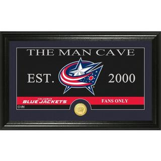 "Columbus Blue Jackets ""Man Cave"" Panoramic Bronze Coin Photo Mint"