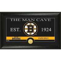 """Boston Bruins """"The Man Cave"""" Bronze Coin Panoramic Photo Mint"""