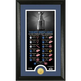 """Toronto Maple Leafs """"Legacy"""" Supreme Bronze Coin Panoramic Photo Mint"""