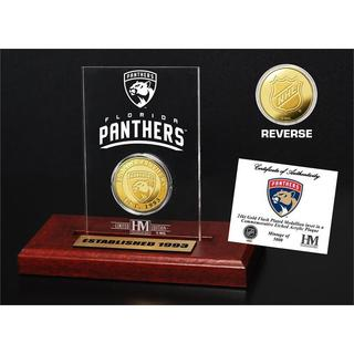 Florida Panthers Gold Mint Coin in Etched Acrylic Desktop