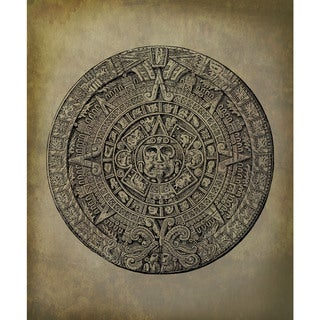 Link to Marmont Hill - Handmade Mayan Calendar Print on Wrapped Canvas Similar Items in Wall Sculptures