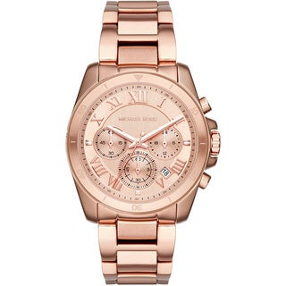Michael Kors Women's MK6367 'Brecken' Chronograph Rose-Tone Stainless Steel Watch