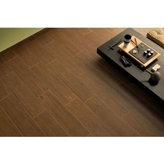 Black Label Living 6X24 Forest Brown Porcelain Floor and Wall Tile (Case of 13/ 12.92 SFT.)