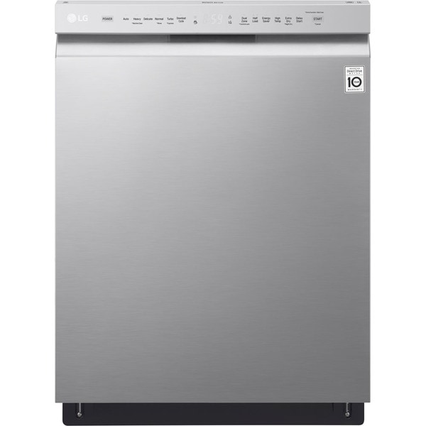 LG LDF5545ST Front Control Dishwasher with QuadWash™ and EasyRack™ Plus in Stainless Steel - Stainless Steel