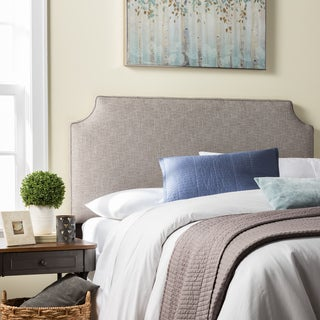 Humble + Haute Raleigh King Size Ash Grey Upholstered Headboard