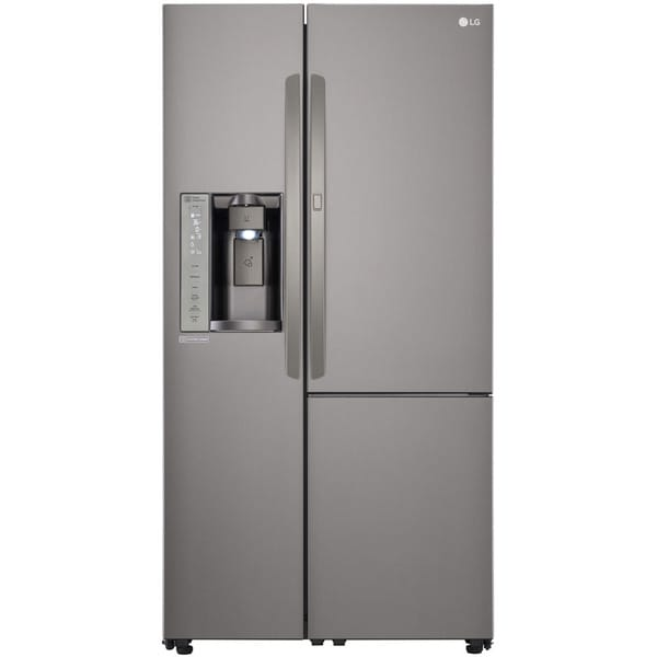 Shop Lg Lsxs26366d Black Stainless 26 Cu Ft Side By