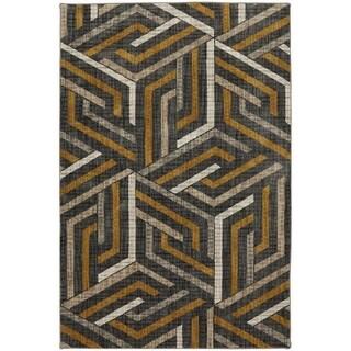 American Rug Craftsmen Metropolitan Aster Mustard Area Rug (5'3x7'10)