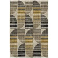 Mohawk Home Metropolitan Crescent Oyster Area Rug (5'3 x 7'10) - 5'3  x  7'10