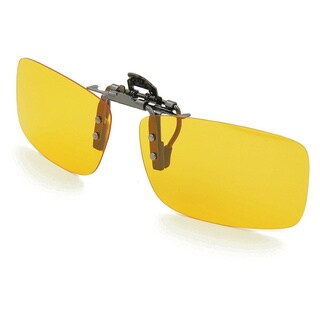 Night View Yellow Plastic Clip-on Night Vision Glasses