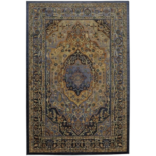 Shop Mohawk Home Providence Mosher Blue Slate Area Rug 5