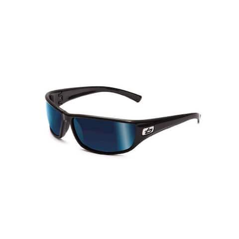 7b782defafc1f Bolle 11333 Python Sunglasses Shiny Black Polarized Offshore Blue
