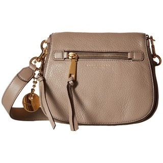 Marc Jacobs Recruit Mink Beige Leather Small Saddle Handbag