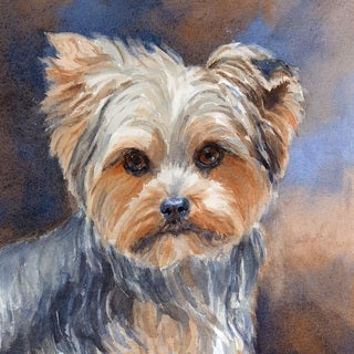 Marmont Hill - 'Sadie Belle Yorkshire Terrier' Painting Print on Wrapped Canvas