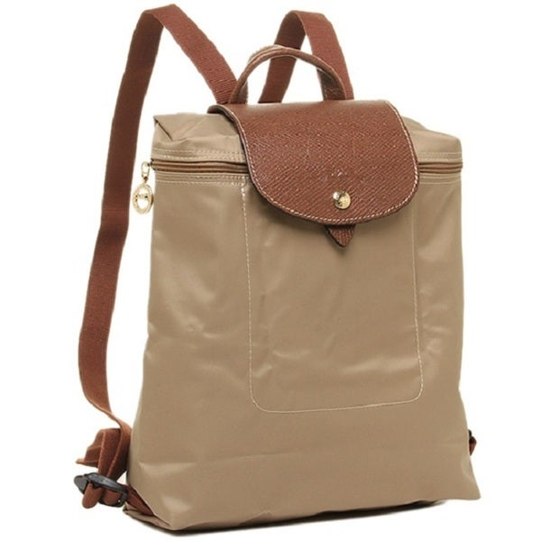 f818c3f5ef01 Shop Longchamp Le Pliage Beige Fashion Backpack - Free Shipping ...