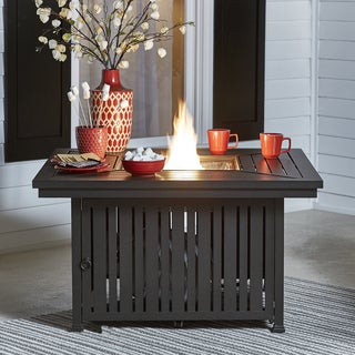Matira Metal Square Gas Fire Pit Table iNSPIRE Q Oasis