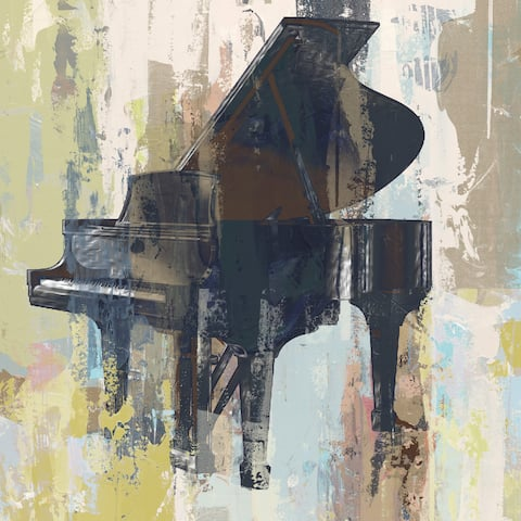 Marmont Hill - Handmade Bluebird Piano Print on Wrapped Canvas