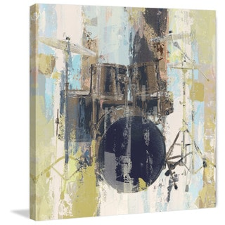 Marmont Hill - 'Bluebird Drum' Painting Print on Wrapped Canvas