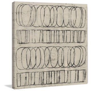 Marmont Hill - 'Ovals & Rectangles' Painting Print on Wrapped Canvas