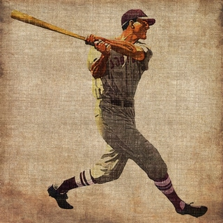 Marmont Hill - 'Vintage Baseball Swing' Painting Print on Wrapped Canvas
