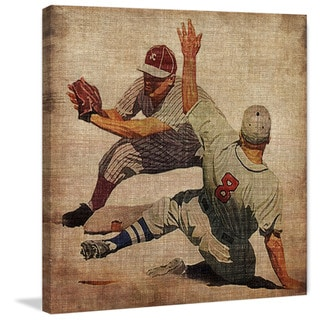 Marmont Hill - 'Vintage Baseball Slide' Painting Print on Wrapped Canvas
