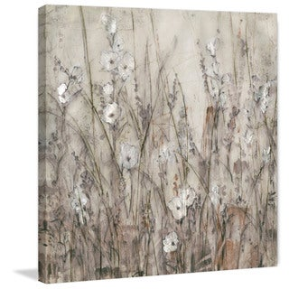 Marmont Hill - 'Tiny White Blooms' Painting Print on Wrapped Canvas