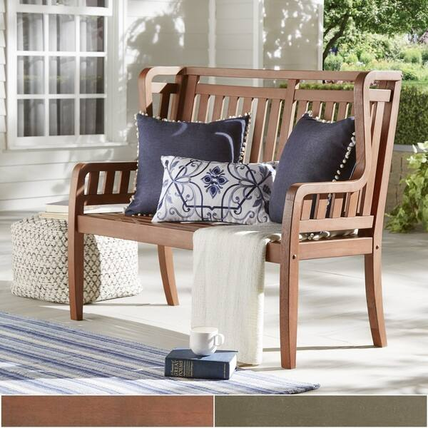 Awesome Shop Yasawa Wood Outdoor High Back Garden Bench Inspire Q Evergreenethics Interior Chair Design Evergreenethicsorg