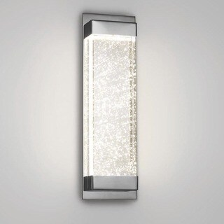 WAC Lighting Mythical Silvertone and Beige Aluminum and Glass LED Wall Sconce