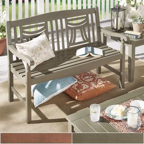 Yasawa Wood Outdoor Window Back Garden Bench iNSPIRE Q Oasis