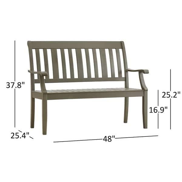 Brilliant Shop Yasawa Wood Outdoor Slat Back Garden Bench By Inspire Q Cjindustries Chair Design For Home Cjindustriesco