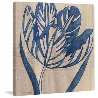 Marmont Hill - 'Indigo Tulip' Painting Print on Wrapped Canvas