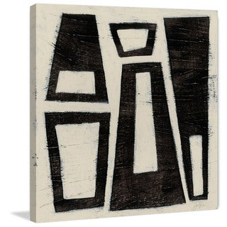 Marmont Hill - 'Hieroglyph IV' Painting Print on Wrapped Canvas