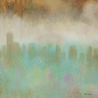 Marmont Hill - 'City Mood' by Rick Novak Painting Print on Wrapped Canvas