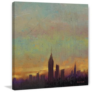 Marmont Hill - 'Night Haze' by Rick Novak Painting Print on Wrapped Canvas