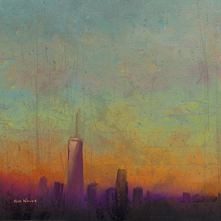 Marmont Hill - 'Purple Haze' by Rick Novak Painting Print on Wrapped Canvas