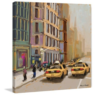 Marmont Hill - 'New York Cabs' by Rick Novak Painting Print on Wrapped Canvas