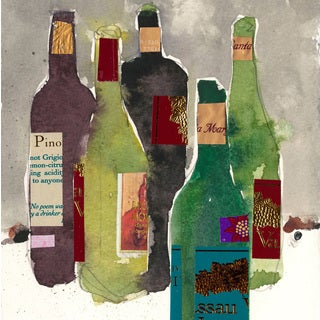 Marmont Hill - 'Five Bottles' Painting Print on Wrapped Canvas