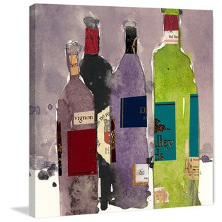 Marmont Hill - 'Four Bottles' Painting Print on Wrapped Canvas