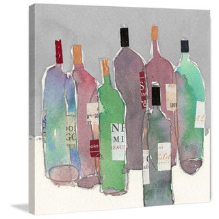 Marmont Hill - 'Wine Party II' Painting Print on Wrapped Canvas