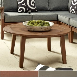 Yasawa Wood Patio Round Coffee Table iNSPIRE Q Oasis