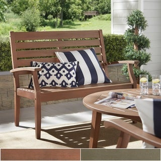 Yasawa Wood Outdoor Garden Ladder Back Bench by NAPA LIVING
