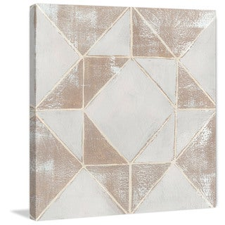Marmont Hill - 'Geometric Veil I' Painting Print on Wrapped Canvas