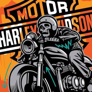 Marmont Hill - 'Motor' by Josh Ruggs Painting Print on Wrapped Canvas