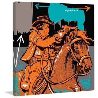 Marmont Hill - 'Raider II' by Josh Ruggs Handmade Painting Print on Wrapped Canvas (United States) - Multi-color