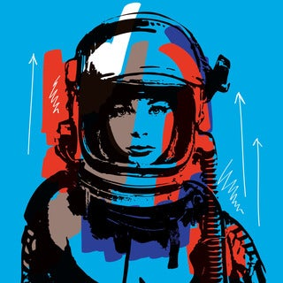 Marmont Hill - 'Astro III' by Josh Ruggs Painting Print on Wrapped Canvas