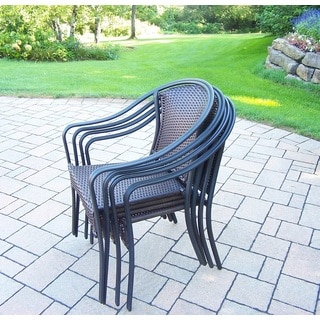 Stackable Sedona Wicker Woven Chairs (4 Pack)