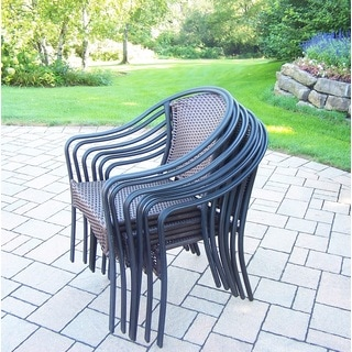 6 Stackable Sedona Wicker woven Chairs (6 Pack)