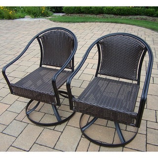 Sedona Wicker Swivel Chairs with Round backs (2 Pack)